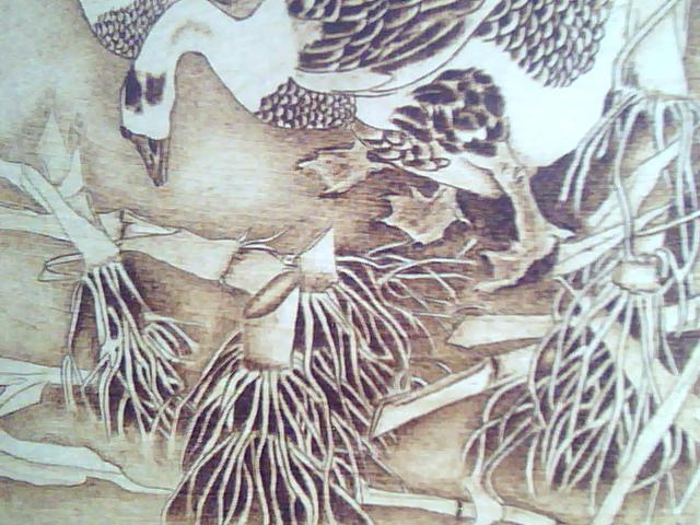 木板烙画 田园 0