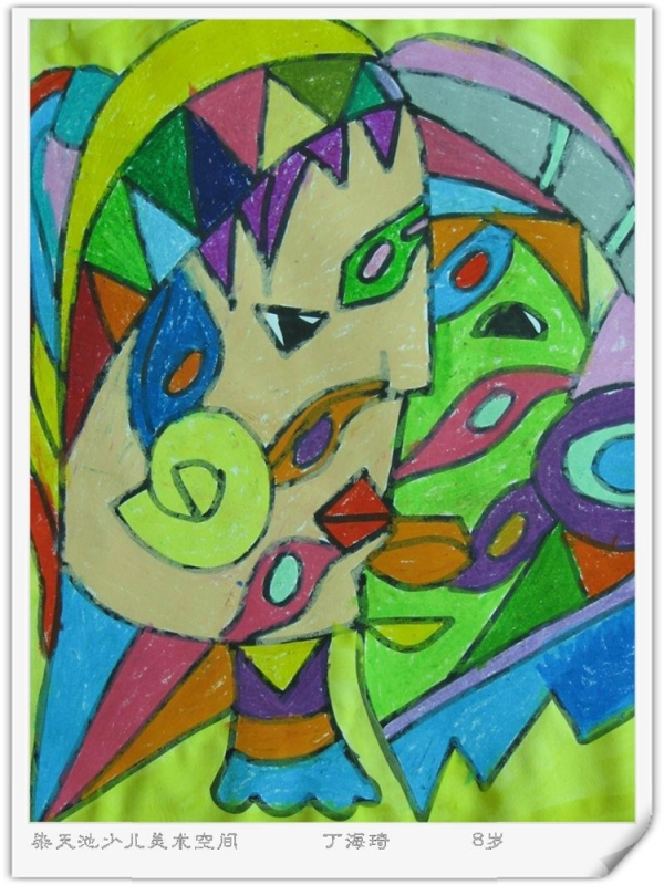 儿童抽象画---变脸-染天池少儿美术书法学校-搜狐-儿童想象画 染天池少