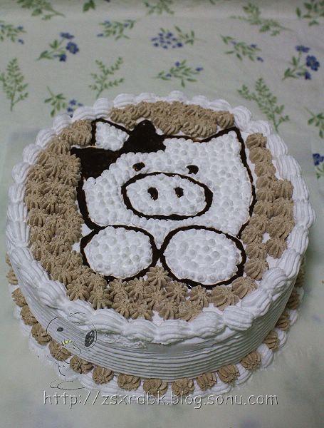 涵涵生日快乐——可爱小猪蛋糕-自是闲人的博客-我的