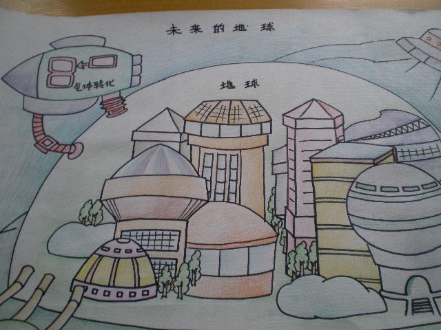 未来世界科幻画_儿童科幻画未来世界