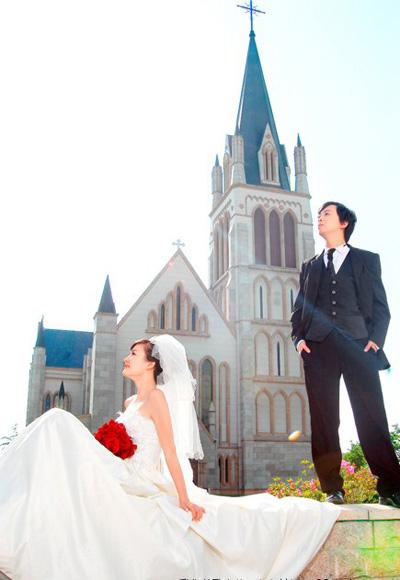 北京欧式建筑婚纱照欣赏—教堂婚礼