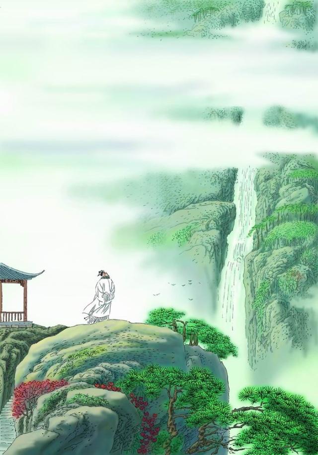 望庐山瀑布
