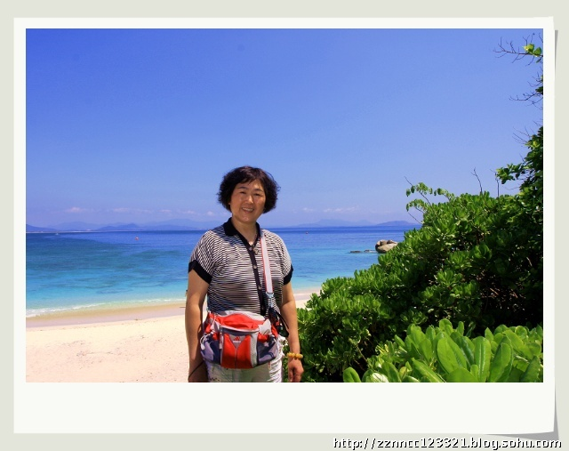 蜈支洲岛导览图     在蜈支洲岛上留个影   &nbsp