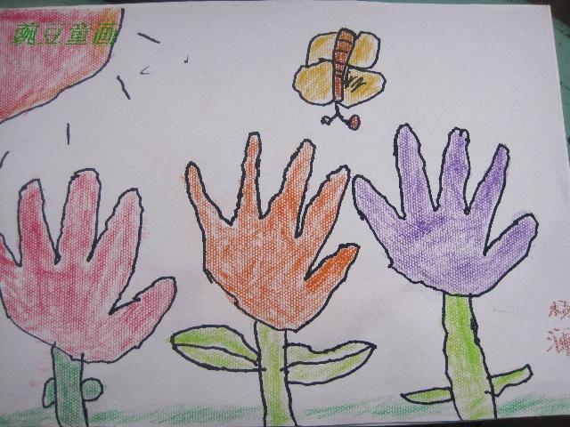 幼儿园手掌创意画 幼儿园创意美术作品 幼儿园创意环境布置 幼儿园创