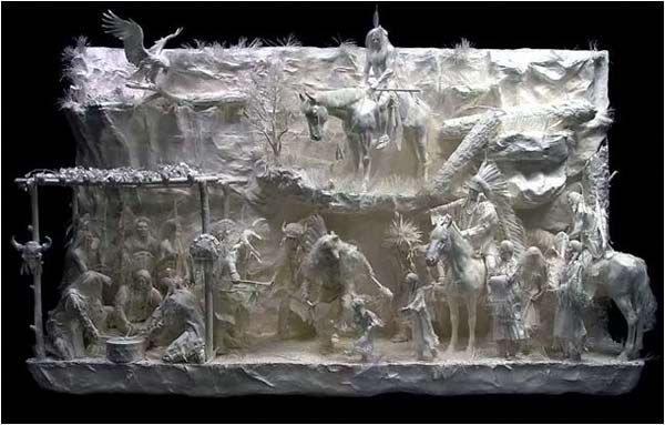 瑰丽的立体纸雕