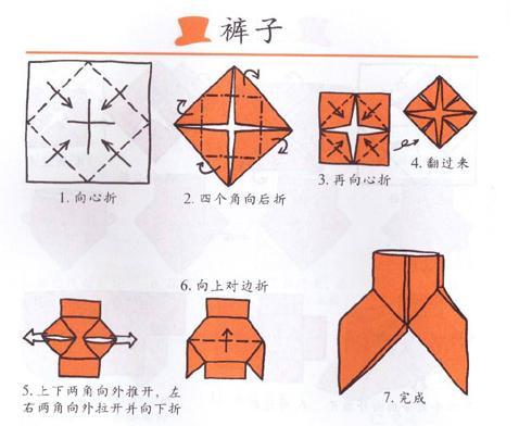 """第一课折纸内容是""""衣服"""":(具体操作见图示)"""
