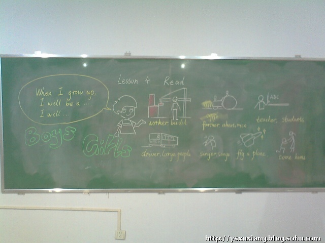 初中英语课堂板书设计