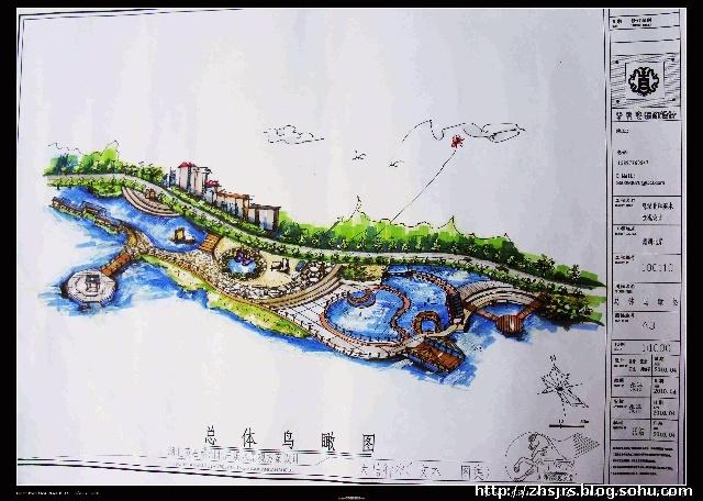 水面桥手绘图