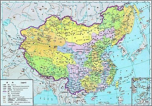 中国历代疆域图14-1820年地图.-中国历代疆域图