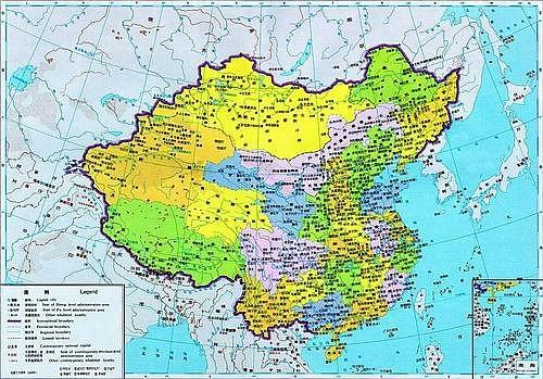 中国历代疆域图15-1908年地图.-中国历代疆域图