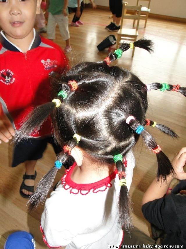 小孩短头发扎法100图片-100种儿童短发扎发步骤/幼儿
