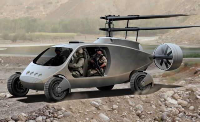 美国新型直升飞机:一分钟可变成四驱吉普车