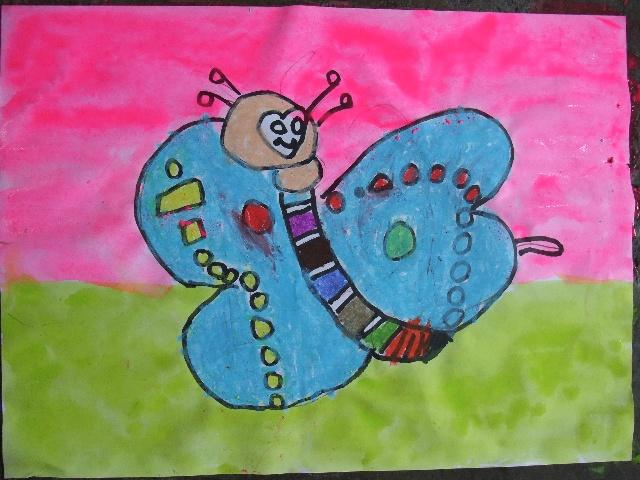 2010年7月14日上午小班作品——《简笔画—蝴蝶》-卡