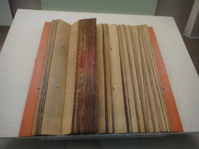 贝叶经(就是写在贝树叶子上的经文,源于古印度.