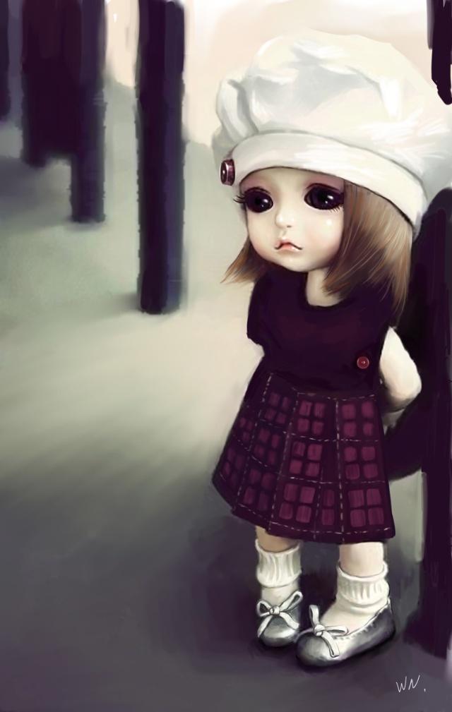 最近發現小妘,雁雁他們都把遊戲的角色改得超可愛,是那種很嫩的很卡哇依的小娃娃的臉,粉是喜歡。昨日又不巧,看到一個系列的娃娃,超喜歡,感覺比那迷糊娃娃好看多了。所以忍不住拿起筆把他給畫了下來。 小時候多是看日本漫畫,受日本漫畫影響比較大,那時候很喜歡日本漫畫的那種風格,可是隨著年齡的增長,接触到的東西更多了,特別是進入大學後,因為所學的是藝術類,整個的審美感覺也在悄悄發生改變,現在不再喜歡日本那種輕飄飄的風格,更多的是傾向於歐美那種比較厚重,寫實,和那種畫面的氛圍感。 但似乎喜歡是一回事,要畫出來還是很難。