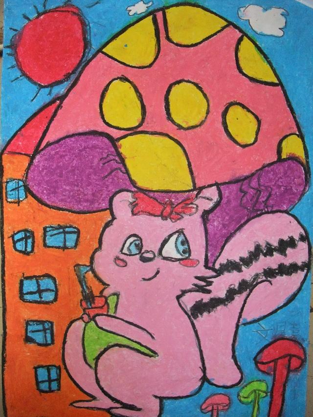 《卡通简笔画—蘑菇伞